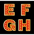 Retro lights Letters vector image vector image