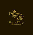 royal shrimp label vector image