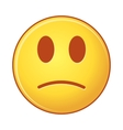 sad emoji on White Background isolated object of vector image