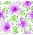 Seamless Floral Hand-drawn Pattern vector image vector image