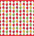 seamless pattern background colorful apples vector image vector image