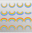 set of realistic colorful rainbow eps 10 vector image vector image