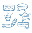 Simple contact feedback share buy download vector image