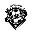 soccer club emblem design element for logo label vector image vector image