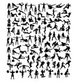 sport activity silhouettes vector image vector image