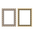 square elegant frame vector image vector image
