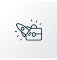 startup icon line symbol premium quality isolated vector image