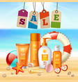 summer holidays realistic flyer vector image