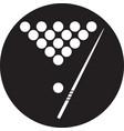 the billiard icon game symbol vector image