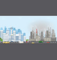 urban city landscape with contemporary buildings vector image vector image