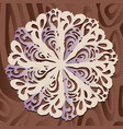 white paper christmas snowflake on a wood vector image vector image