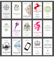 15 vertical business cards vector image