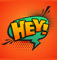 comic text sound effect in pop style art vector image