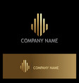 line capitol building gold logo vector image