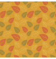 A seamless pattern with leafautumn leaf background vector image