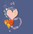 abstract hearts background love greeting card vector image vector image