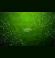 abstract polygonal space green background with vector image vector image