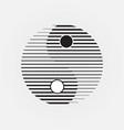 abstract yin yang symbol geometric line concept vector image