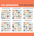advanced flat web icons vector image