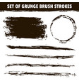 artistic grunge hand drawn black brush strokes vector image vector image