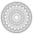 aztec mandala design with stroke - perfect vector image vector image
