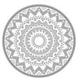 aztec mandala design with stroke - perfect vector image