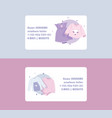 baby clothing business card cartoon kids vector image vector image
