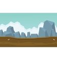 Backgrounds game many big rock vector image
