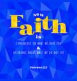 bible verse from hebrews vector image vector image