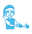 boy with christmas hat vector image