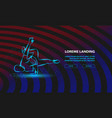 breakdancer makes a frieze street dancing vector image vector image