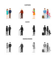 character and avatar logo vector image vector image
