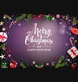 christmas festive frame vector image vector image