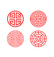 classic chinese circle window frame in vector image