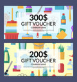 cleaning icon discount gift voucher vector image vector image