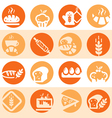color bakery icons vector image vector image