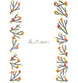 colorful birds on tree branch border vector image