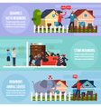 Conflicts With Neighbors Banners Set vector image vector image