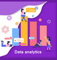 data analytics development banner vector image