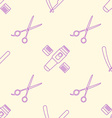 deco hairdresser tools seamless pattern vector image vector image