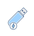 disk drive fast flash storage usb icon vector image vector image