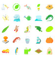 ecology icons set cartoon style vector image vector image