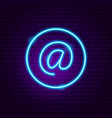 email address neon sign vector image vector image