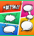 empty comic sound effect and page strip background vector image vector image