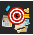 financial investment target money management vector image