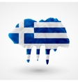 Flag of Greece painted colors vector image