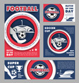 football match poster for soccer sport game design vector image vector image