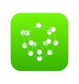 glucose icon green vector image vector image
