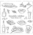 hand drawn set of spanish cuisine soup vector image