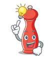 have an idea pepper mill character cartoon vector image vector image